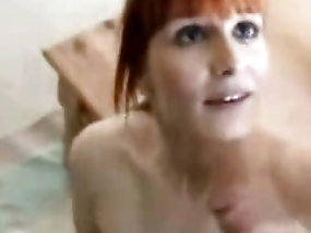 Cutest redhead milf's blowjob is amazing thing for the eyes