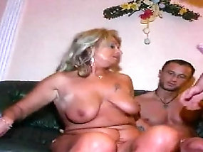 Horny old granny loves hard pounding from young stud