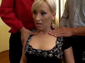 Mature milf double teamed deep speaking