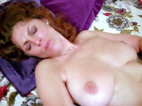 Nude girl having massage